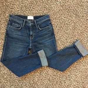 CURRENT/ELLIOT Cuffed dark wash jeans SIZE 25